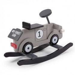 Juguete Madera Rocking Car Grey Childhome