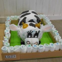 Tarta Pañales Vaca
